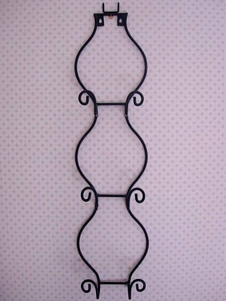 beautiful large black wrought iron metal  plate picture wall rack ebay