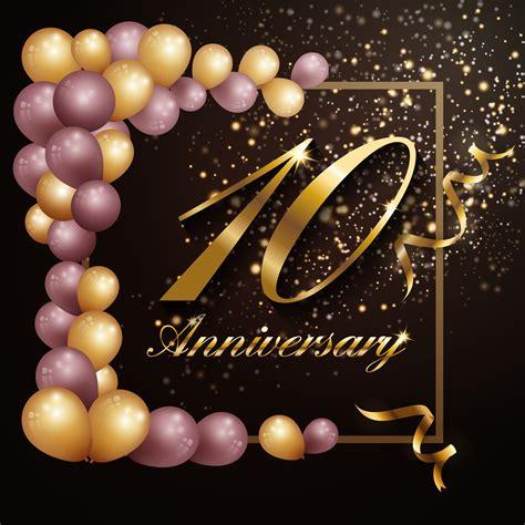 year anniversary celebration background banner design