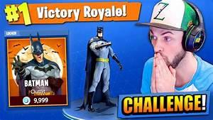 The BATMAN CHALLENGE In Fortnite Battle Royale