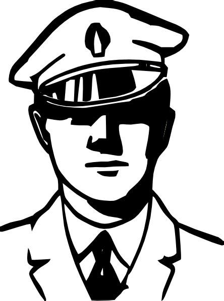 cop clipart black and white officer clipart black and white clipart panda