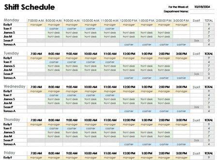 excel employee schedule template   schedule