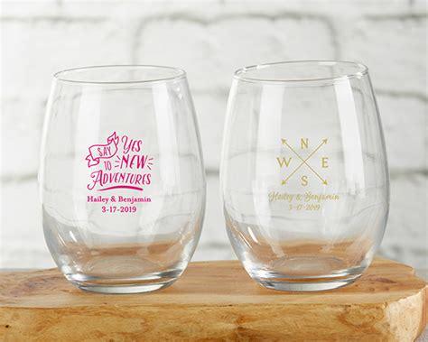 Personalized Travel & Adventure 9 Oz. Stemless Wine Glass