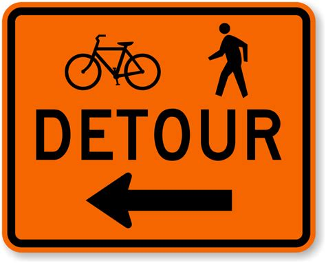 Sidewalk Closed Signs, Mutcd Sidewalk Signs