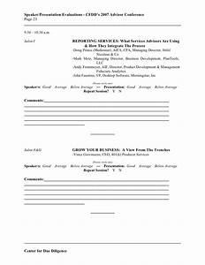 Speaker Presentation Evaluation Forms