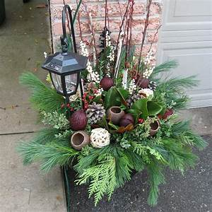 Ideas, For, Outdoor, Christmas, Pots