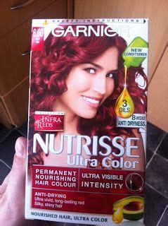 garnier red hair dye   dark hair  love