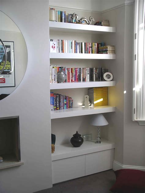 fitted bathroom furniture ideas floating shelf alcove cupboard by henderson