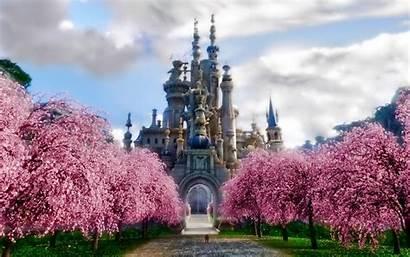 Desktop Castle Widescreen Nature Wallpapers Background Backgrounds