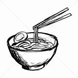 Noodles Bowl Noodle Coloring Soup Drawing Vector Getdrawings Bar sketch template