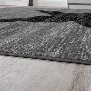 Tapis Gris Poil Ras : tapis design toile motif moderne tendance poils ras chin en gris noir tapis tapis poil ras ~ Teatrodelosmanantiales.com Idées de Décoration