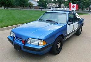 Canadian Pursuit Vehicle: 1989 Ford Mustang SSP