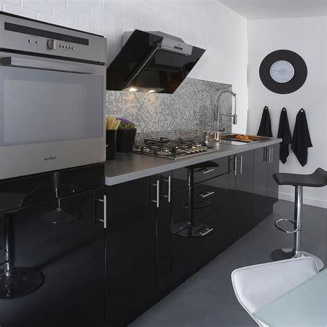 meuble cuisine noir meuble de cuisine noir delinia leroy merlin