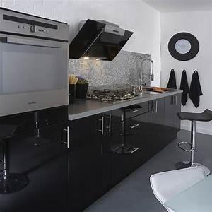 Sangle De Déménagement Leroy Merlin : meuble de cuisine noir delinia rio leroy merlin ~ Dailycaller-alerts.com Idées de Décoration