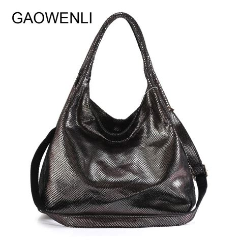 gaowenli brand   handbag women  genuine leather