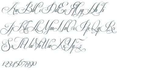 fancy cursive stencils respective font