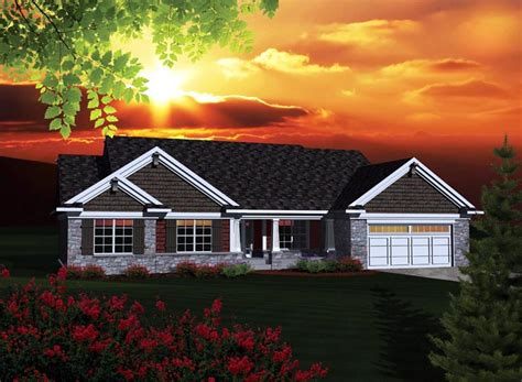 ranch style house plan    bed  bath