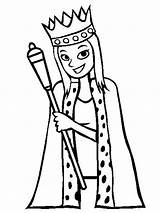 Queen Coloring Pages Printable Whitesbelfast Recommended Colors Mycoloring sketch template