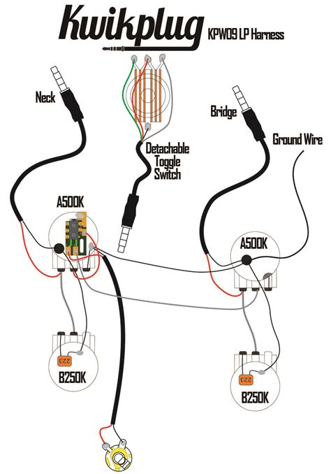 Kwikplug Humbucker Wiring Harness Pre Soldered Drop