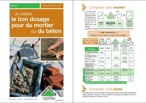 dosage mortier enduit dosage b ton dosage mortier reussir le dosage du mortier et du beton