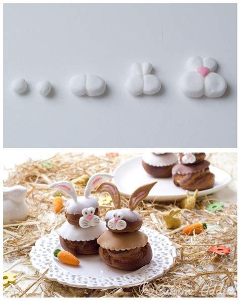 tuto cuisine tuto déco petits lapins en pâte à sucre pour religieuses