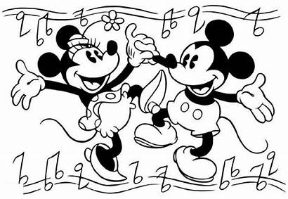 Coloring Mouse Mickey Minnie Drawing Valentine