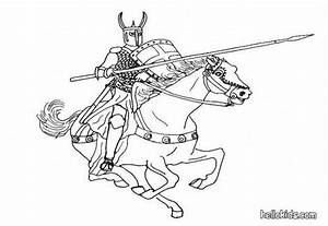 Knight coloring pages - Hellokids.com