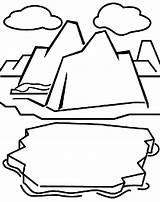 Glacier Coloring Iceberg Pages Clipart Habitat Drawing Sheet Cliparts Crayola Polar Cards Arctic Clipartkid Animals Crayons Grab George Glaciers Clipartmag sketch template