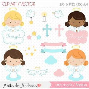 Little angel Clipart / Baptism vector Commercial use White