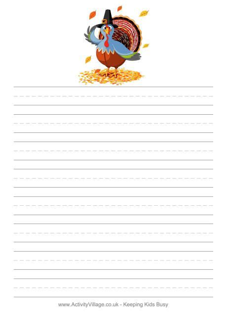 weve  thanksgiving stationery  writing paper