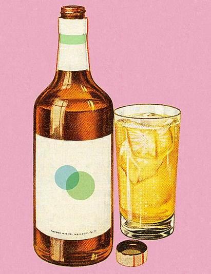 Bottle Whisky Vector Whiskey Illustrations Clip Liquor