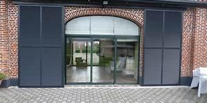 Baie Coulissante Bois : grande baie vitree coulissante maison design ~ Premium-room.com Idées de Décoration