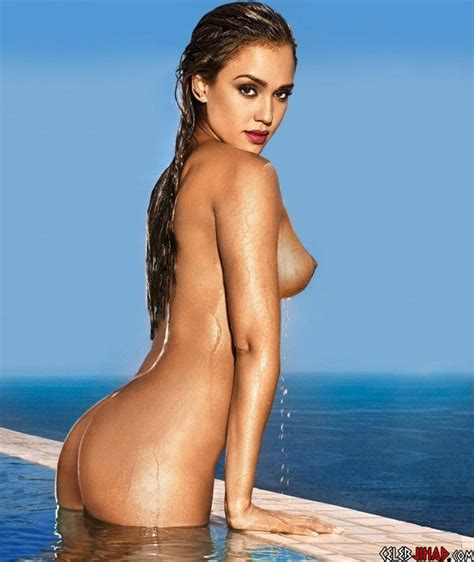 Jessica Alba Shows Off Her Post Pregnancy Nude Tits And Ass