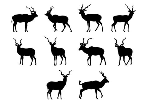 Free Vector Picture by Kudu Silhouettes Vector Free Vector Stock
