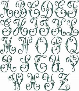 Caroline machine embroidery font monograms linens for Embroidery machine for lettering