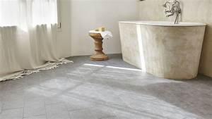 salle de bain rouge et grise With salle de bain sol gris