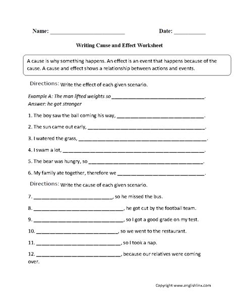 Kindergarten Cause And Effect Worksheets  Free $0 Cause And Effect Puzzles Teacher At Owl Ways