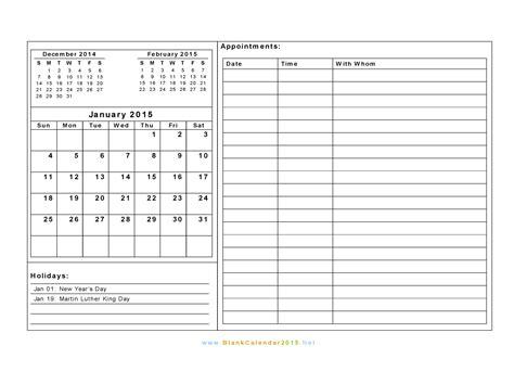 2015 Calendar Blank Template Costumepartyrun