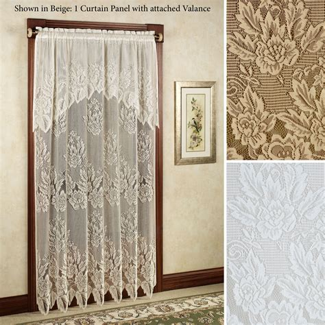 lace curtain panels easy style hallie magnolia lace curtain panel with