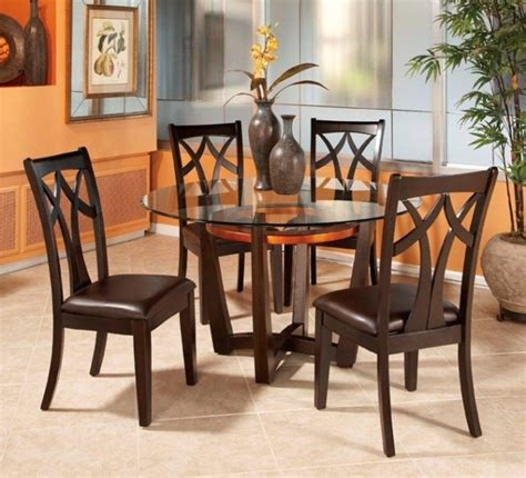 glass table with 4 chairs round dining tables for 4 chairs set eva furniture