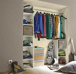 Chambre Dressing : un lit sur des meubles de rangement pour la chambre d 39 ado ~ Voncanada.com Idées de Décoration