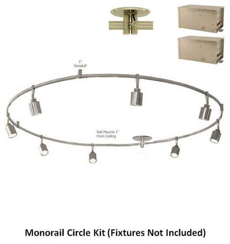 monorail 12v 4x300 2 circuit circle kit remote magnetic
