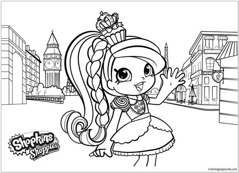 Shoppies Shopkins Coloring Page Free Coloring Pages Online