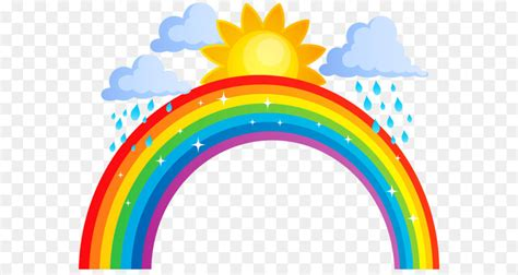 Rainbow Sun And Clouds Png Transparent