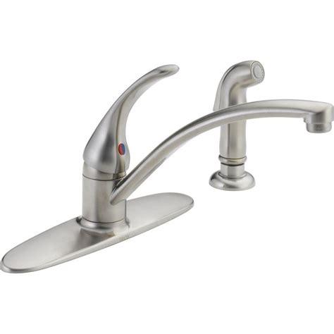 delta foundations single handle standard kitchen faucet