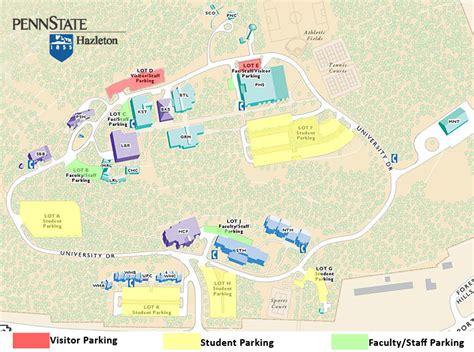 parking map penn state hazleton