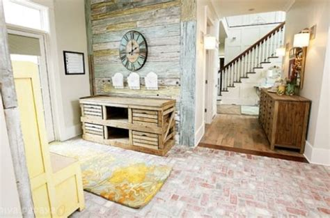 light multi colored shiplap  entryway   home