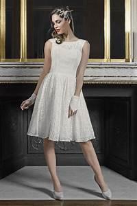 Robe Courte Mariée : robes de mari e courtes robe de mari e courte bleuet ~ Melissatoandfro.com Idées de Décoration