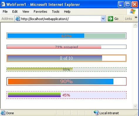Complete Bar by Percentage Complete Progress Bar 100 Completed Asp Net
