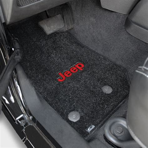 lloyd ultimat jeep logo carpet floor mats black 600063