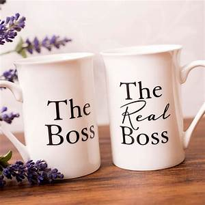 mug gift set the boss the real boss gettingpersonal With wedding gift ideas for your boss